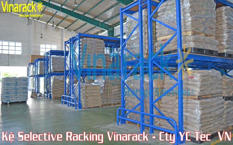 Warehouse pallet racking layout