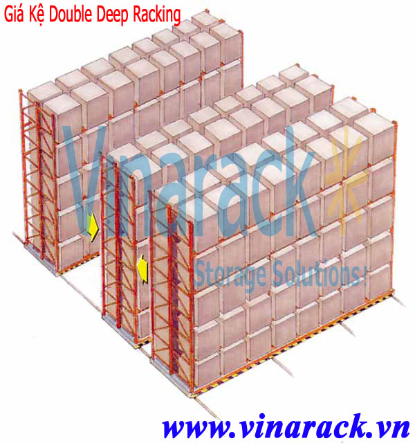 Kệ kho Double deep pallet racking
